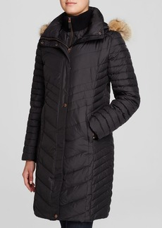 Marc New York Kendall Fur Trim Chevron Puffer Coat