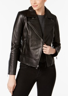 Marc New York Leah Leather Moto Jacket
