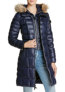 Marc New York Lindsay Fur Trim Down Coat