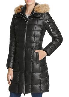 Marc New York Lindsay Fur Trim Down Coat