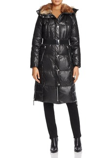 Andrew Marc Marc New York Liz Belted Faux Fur Puffer Coat