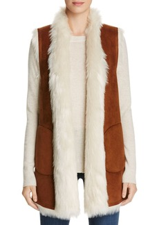 Marc New York Long Faux Shearling Vest