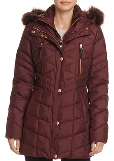 Andrew Marc Marc New York Marley Faux Fur Trim Puffer Coat