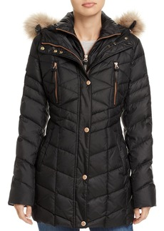 Marc New York Marley Faux Fur Trim Puffer Coat