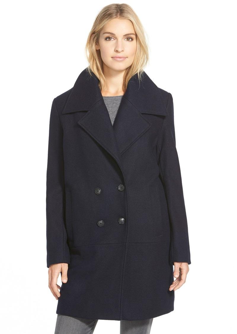 Andrew Marc Marc New York 'Natalie' Twill Wool Blend Boyfriend Coat