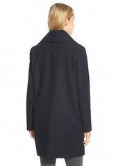 Andrew Marc Marc New York 'Natalie' Twill Wool Blend Boyfriend Coat