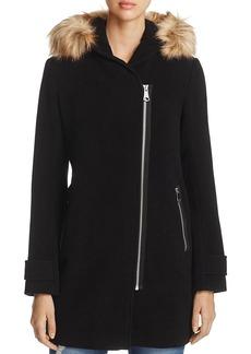 Marc New York Paloma Faux Fur Trim Coat