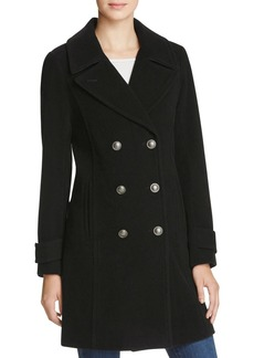 Marc New York Pandora Military Double-Breasted Button Front Coat