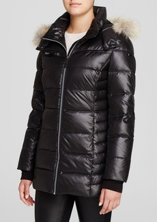 Marc New York Paris Fur Trim Puffer Coat