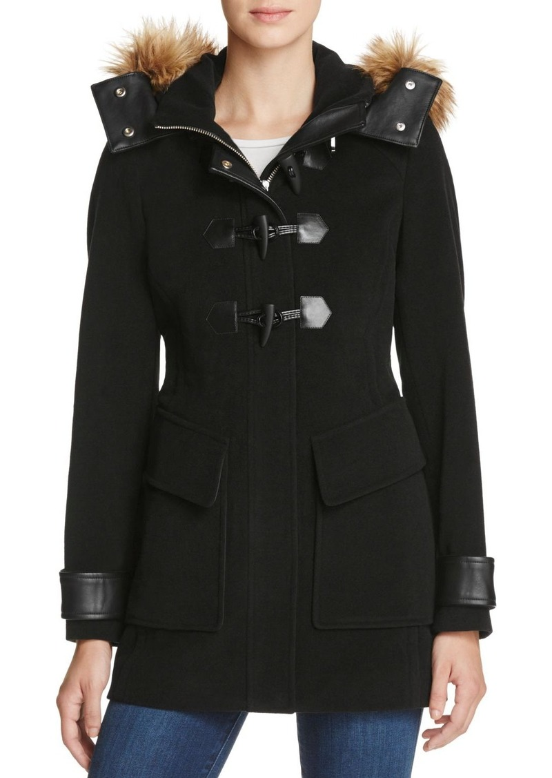 Andrew Marc Marc New York Paxton Faux Fur Trim Toggle Coat