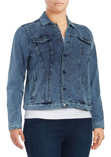 Andrew Marc MARC NEW YORK PERFORMANCE Chambray Button-Front Jacket