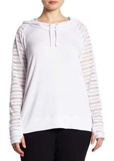Andrew Marc MARC NEW YORK PERFORMANCE Eyelet Raglan Sleeve Hoodie