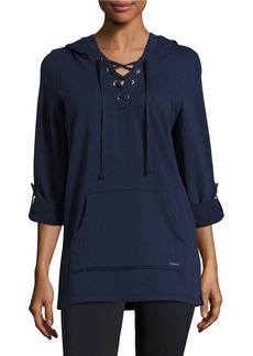 Andrew Marc MARC NEW YORK PERFORMANCE Lace-Up Active Hoodie