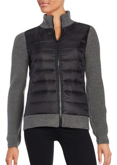 Andrew Marc MARC NEW YORK PERFORMANCE Packable Quilted Down and Knit Jacket