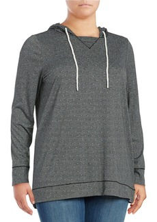 Andrew Marc MARC NEW YORK PERFORMANCE Plus Patterned Hooded Sweatshirt