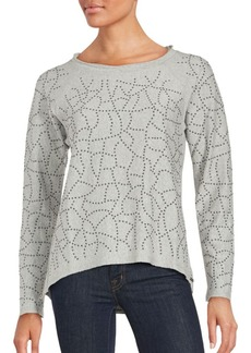 MARC NEW YORK by ANDREW MARC Performance Beaded Cotton Top