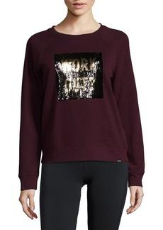Andrew Marc Marc New York Performance Sequin Graphic Sweatshirt