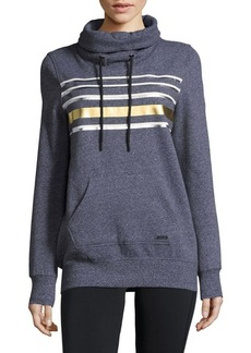 Andrew Marc Marc New York Performance Rib-Trimmed Hoodie