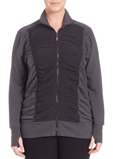 Andrew Marc Marc New York Performance Ruched-Front Thumbhole Jacket