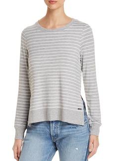 Marc New York Performance Striped High/Low Sweatshirt