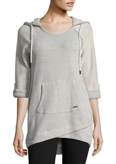 Andrew Marc Marc New York Performance Terry Tunic Long Sleeve Hoodie