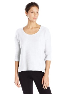 Marc New York Performance Women's 3/4 Sleeve High Low Pullover
