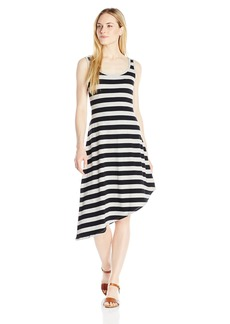 Marc New York Performance Women's Asymmetric Hem Stripe Tank Dress