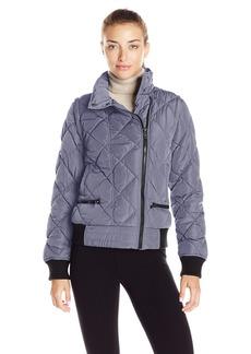 Marc New York Performance Women's Asymmetric Puffer Moto Jacket W/ Zip Off Sleeves  M