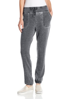 Marc New York Performance Women's Closed Bottom Distress Fleece Sweatpant