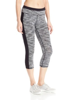 Marc New York Performance Women's Space Dye Crop Legging with Solid Side