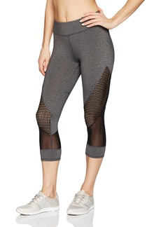 Marc New York Performance Women's Cropped Legging with Mesh Detail  L
