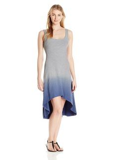 Marc New York Performance Women's Hi-Low Dip Dye Stripe Dress