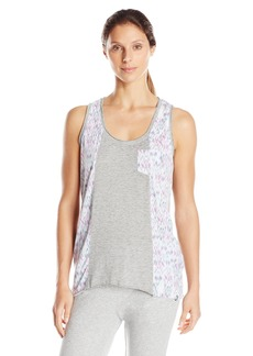 Andrew Marc Marc New York Performance Women's Hi-Low Spliced Tank with Pockets