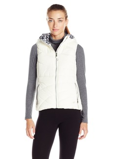 Andrew Marc Marc New York Performance Women's Hooded Puffer Vest with Pop Lining  L