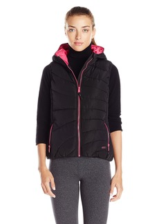 Andrew Marc Marc New York Performance Women's Hooded Puffer Vest with Pop Lining  M
