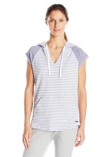 Marc New York Performance Women's Stripe Hooded S/Split Front Pullover