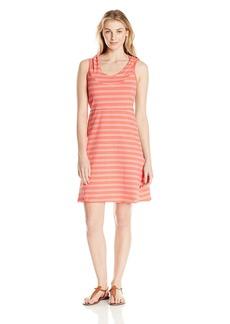 Marc New York Performance Women's Hooded Thick Thin Stripe Dress W/ Shelf Bra