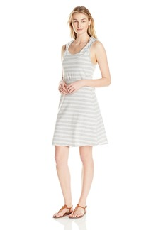 Marc New York Performance Women's Hooded Thick Thin Stripe Dress With Shelf Bra