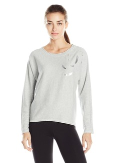Marc New York Performance Women's Long Sleeve High Low Pullover with Embellishment