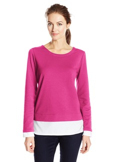Marc New York Performance Women's Long Sleeve Scoop Neck  L
