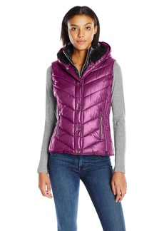 Marc New York Performance Women's Marc Ny Performance Systems Puffer Vest with Sherpa Lined Hood  M