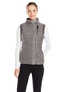 Andrew Marc Marc New York Performance Women's Marc Ny Performance Marled Sweater Knit Asymmetric Puffer Vest W/ Rib Back  S