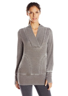 Marc New York Performance Women's Performance Distress Fleece Tunic With Thermal