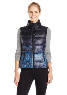 Marc New York Performance Women's Performance Printed Vest with Hidden Hood