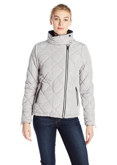 Andrew Marc Marc New York Performance Women's Performance Puffer Jacket with Piping and Zip Off Sleeves