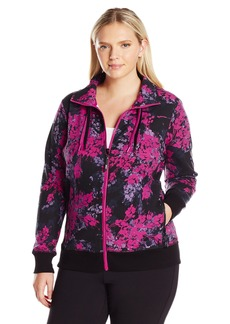 Marc New York Performance Women's Plus Size Printed Jacket with Double Zipper