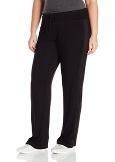 Marc New York Performance Women's Plus Size Open Bottom Pant with Mesh Panels  2X