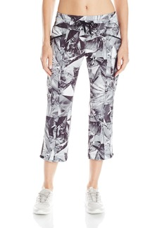 Marc New York Performance Women's Print Crop Pant with Adjustable Hem Ties