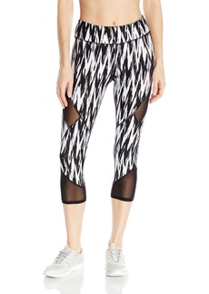Marc New York Performance Women's Printed Crop Legging with Mesh Inserts  M