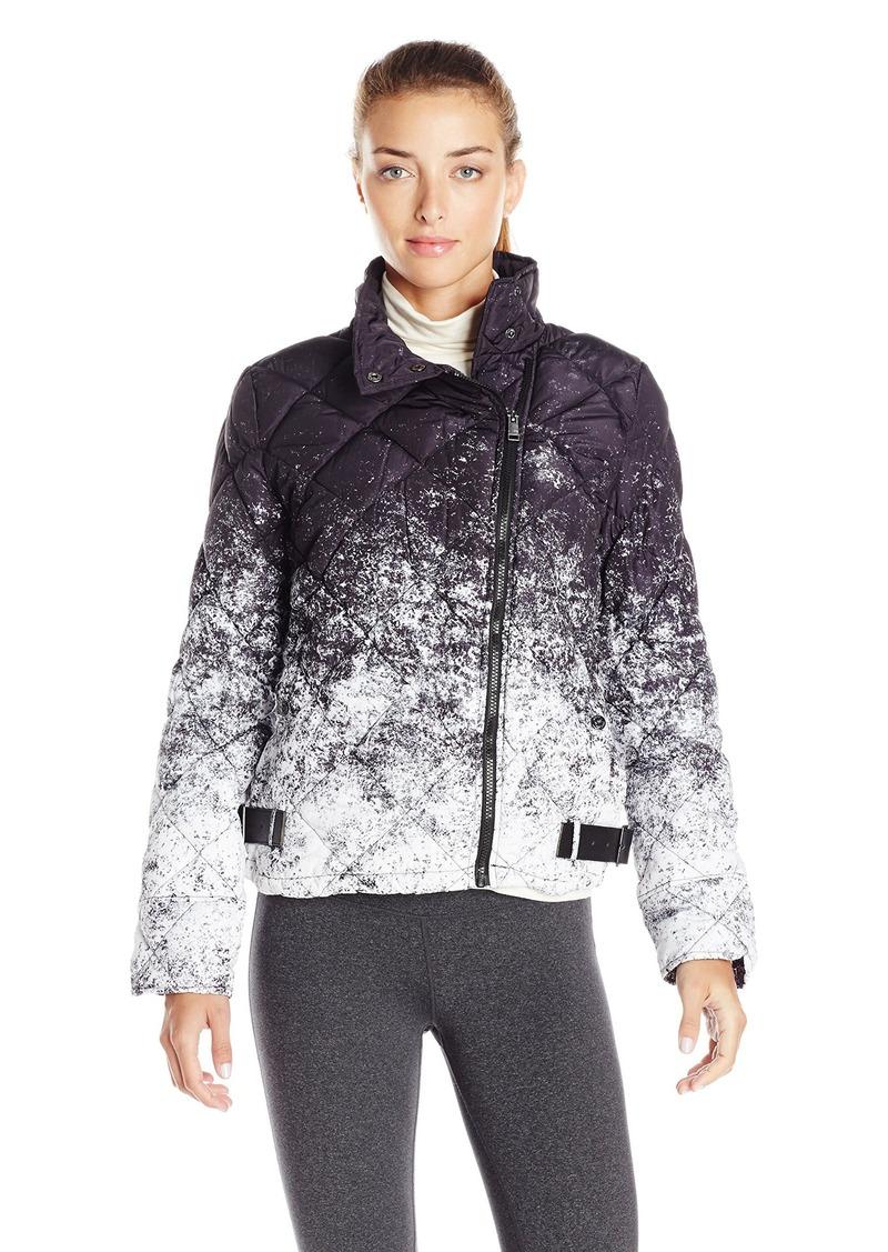 Marc New York Performance Women's Printed Puffer Asym Moto Jacket